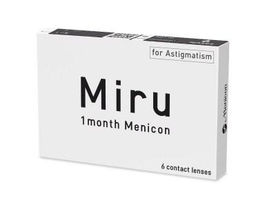 Miru 1 Month Menicon for Astigmatism (6 lenzen)