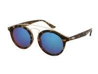 Alensa.nl - Contactlenzen - Kids zonnebril Alensa Panto Havana (blauw gespiegeld)