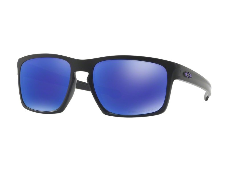 Oakley Sliver Matte Black-Violet Iridium Polarized