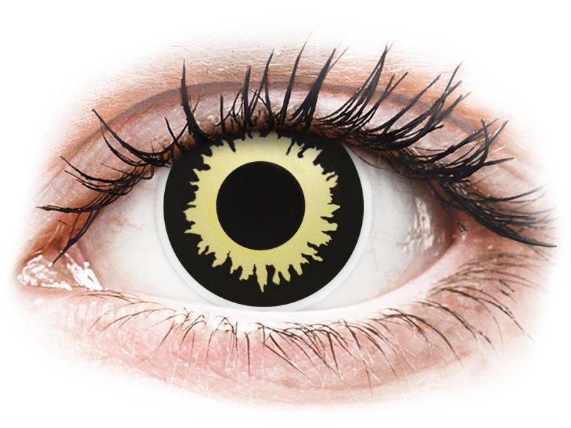 Kleurlenzen Halloween.Zwart En Gele Eclipse Contactlenzen Colourvue Crazy 2 Kleurlenzen