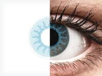 Blauwe Solar Blue contactlenzen - ColourVue Crazy (2 kleurlenzen)