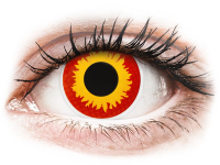 Alensa.nl - Contactlenzen - Rood en Gele Wildfire contactlenzen - ColourVue Crazy