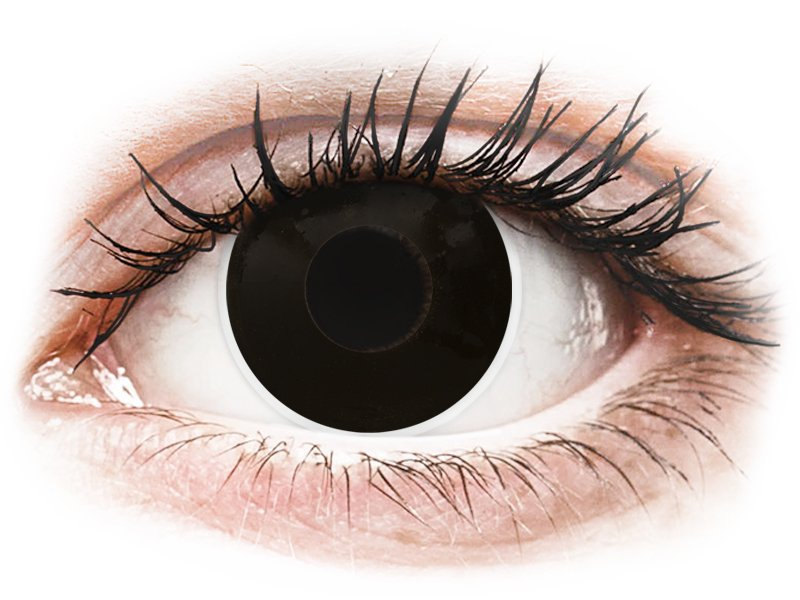 9ccf178f93df96 ... Zwarte BlackOut contactlenzen - met sterkte - ColourVue Crazy (2  kleurlenzen) ...