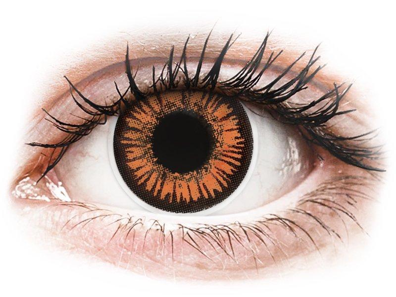 a32ec26e81ab81 ... Oranje Twilight contactlenzen - met sterkte - ColourVue Crazy (2  kleurlenzen) ...