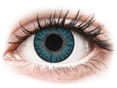 Blauwe contactlenzen - met sterkte - TopVue Color (10gekleurde daglenzen)