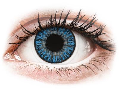 Blauwe Sapphire Blue contactlenzen - met sterkte - TopVue Color (10 gekleurde daglenzen)