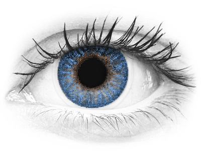 Blauwe True Sapphire contactlenzen - TopVue Color (2kleurlenzen)