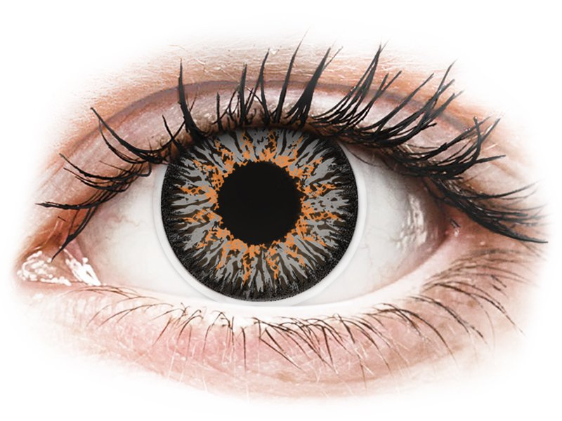Grijze contactlenzen - met sterkte - ColourVUE Glamour (2kleurlenzen)