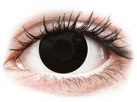 Zwarte BlackOut contactlenzen - ColourVue Crazy (2 gekleurde daglenzen)