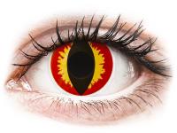Rood en Gele Dragon Eyes contactlenzen - ColourVue Crazy (2 gekleurde daglenzen)