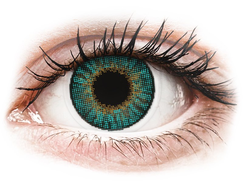 Turquoise contactlenzen - met sterkte - Air Optix Colors (2 kleurlenzen)