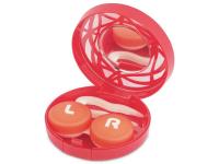 Alensa.nl - Contactlenzen - Lenzenhouder kit met spiegel - rood versierd