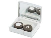 Alensa.nl - Contactlenzen - Lenzenhouder kit met spiegel - Elegant zilver