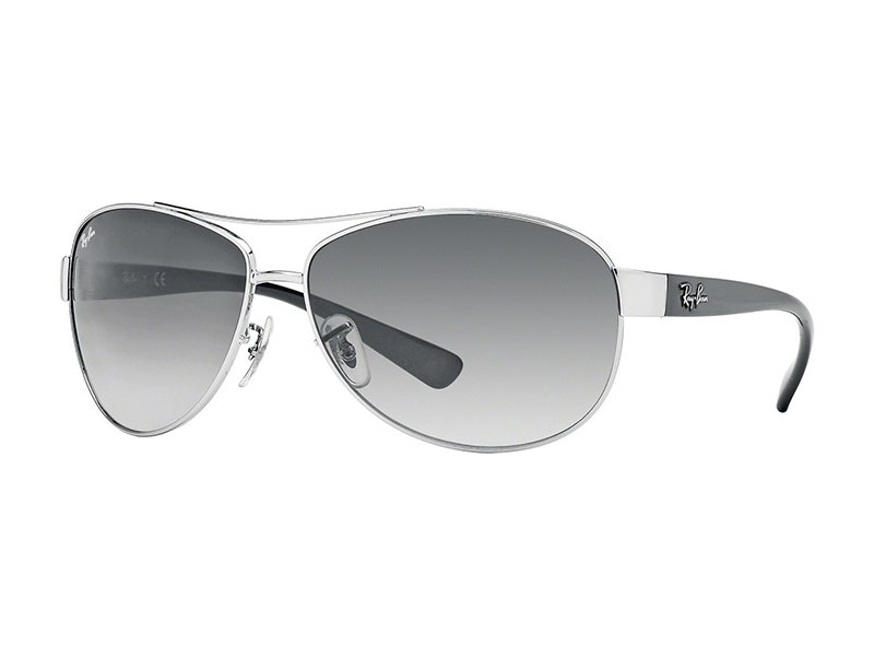 1b9a15b402d8f4 Zilveren en zwarte Ray-Ban aviator zonnebril