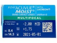 1 Day Acuvue Moist Multifocal (30 lenzen)