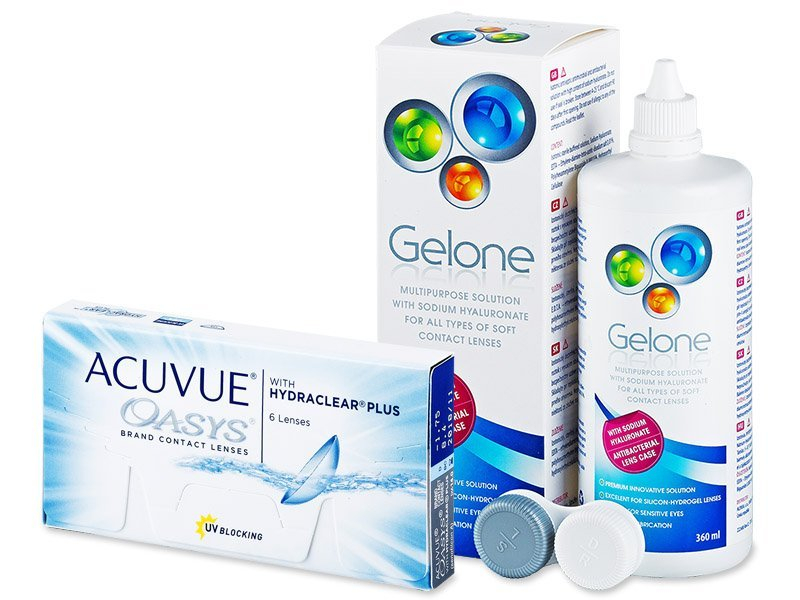 Acuvue Oasys (6lenzen) + Gelone 360 ml