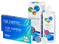 Air Optix Aqua (2x3 lenzen) + Gelone 360 ml